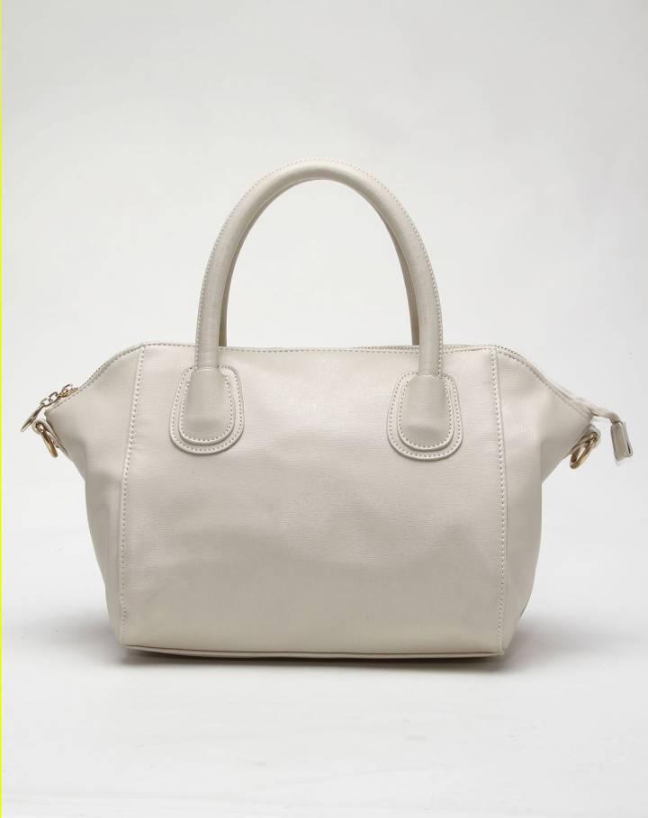 女款米白色时尚日韩范手拎斜挎包