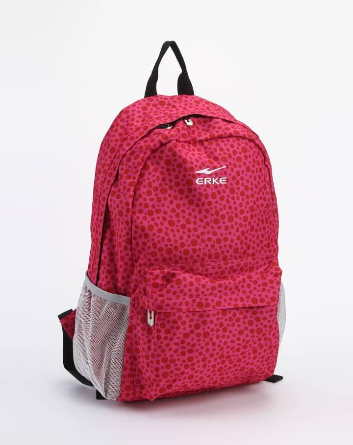 女款玫红色时尚双肩背包