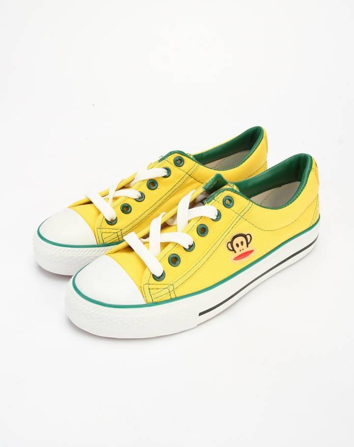 女款黄色休闲帆布鞋